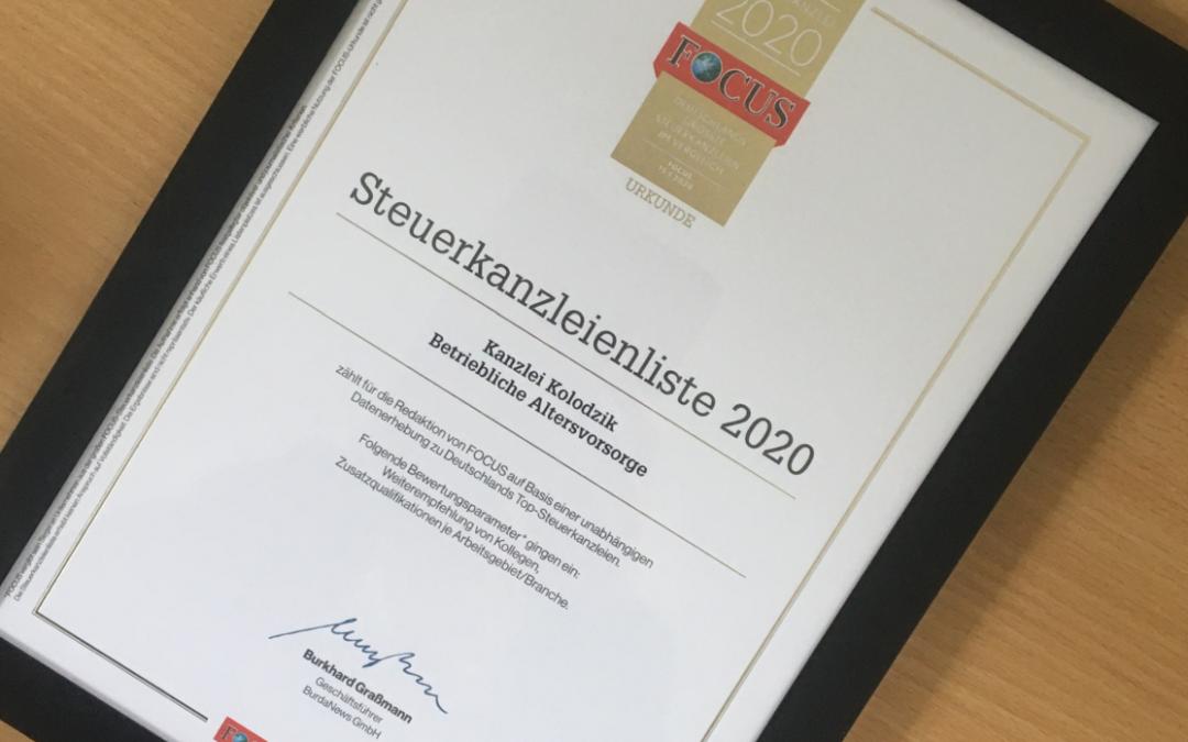 Zum siebten Mal gehört die Kanzlei Kolodzik Deutschlandweit zu den Top Kanzleien laut Focus Spezial